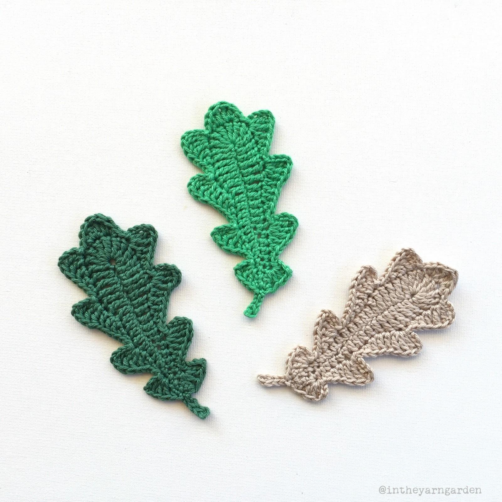 Crochet oak leaves in the yarn garden crochet diagram ccuart Images