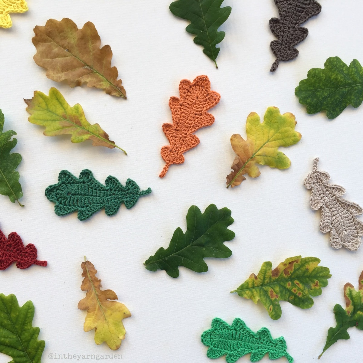 Crochet Oak Leaves