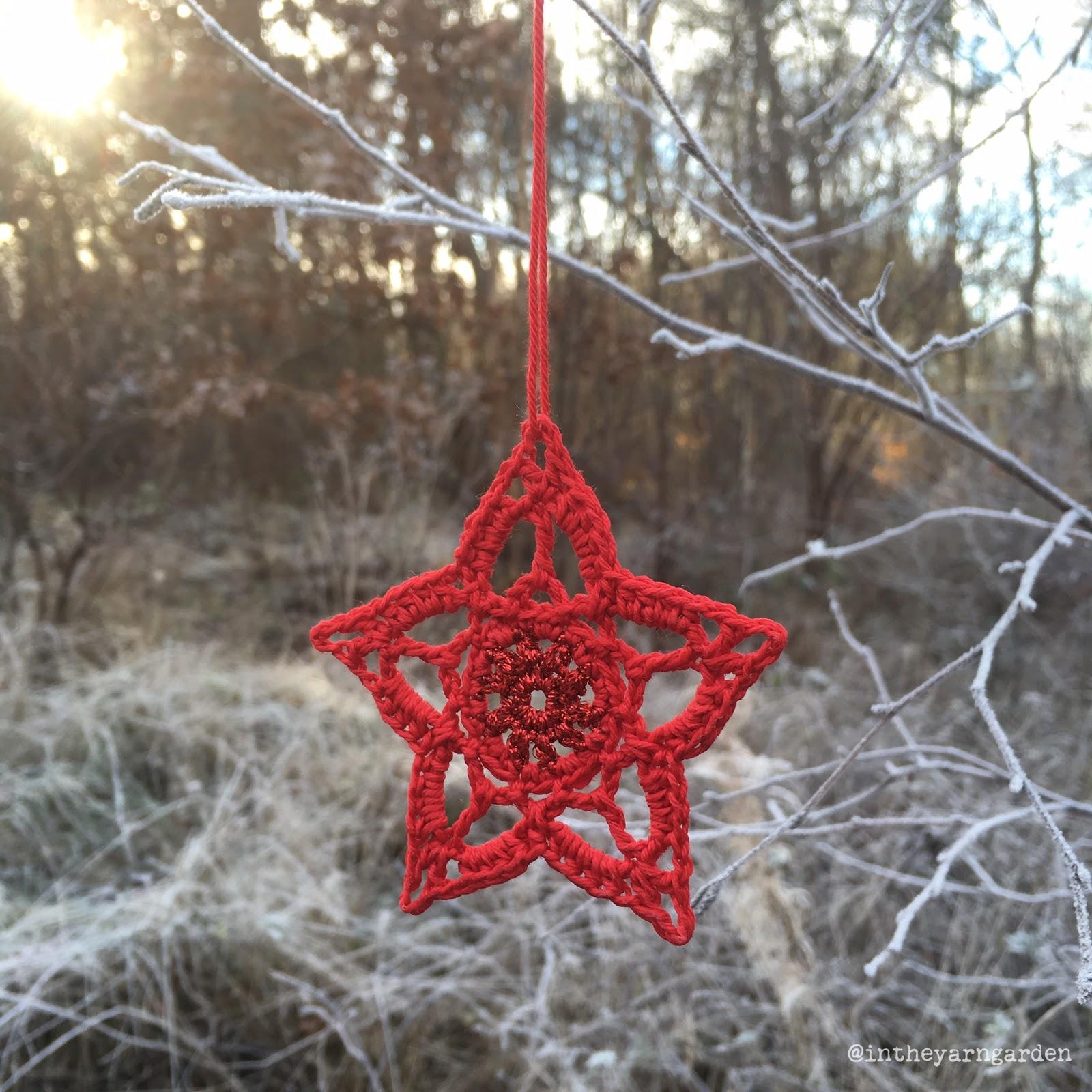 Crochet Christmas Stars In The Yarn Garden