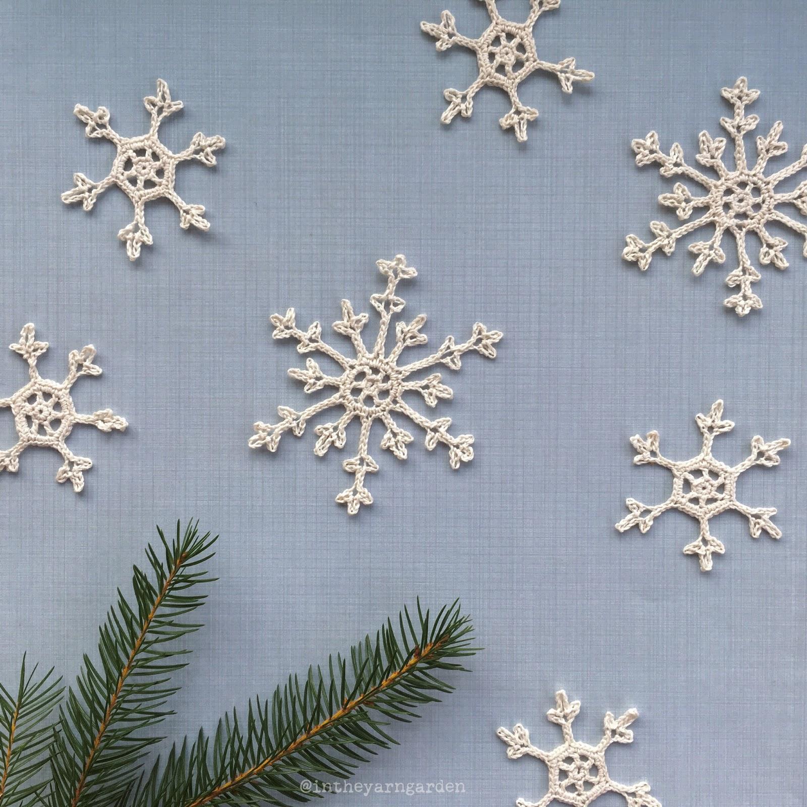 virka snöflingor mönster