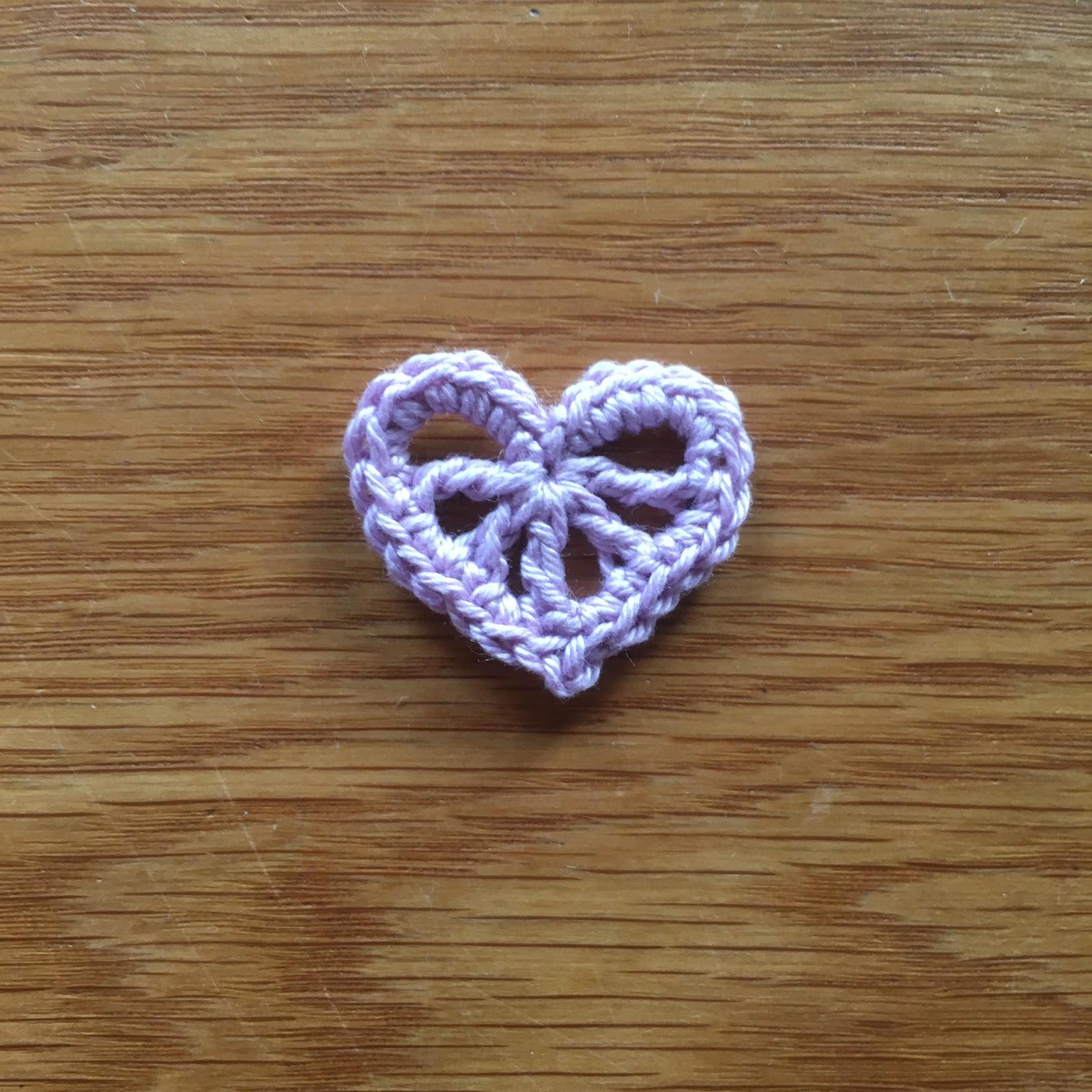 Decorative Hearts In The Yarn Garden Heart Shape Crochet Pattern Diagram