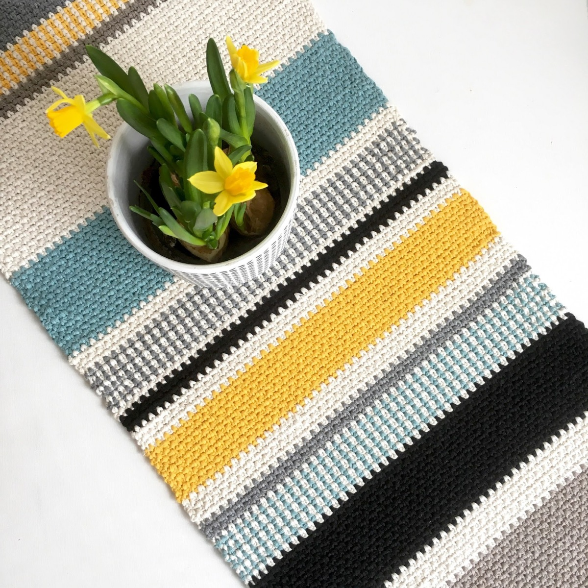 Moss Stitch Table Runner